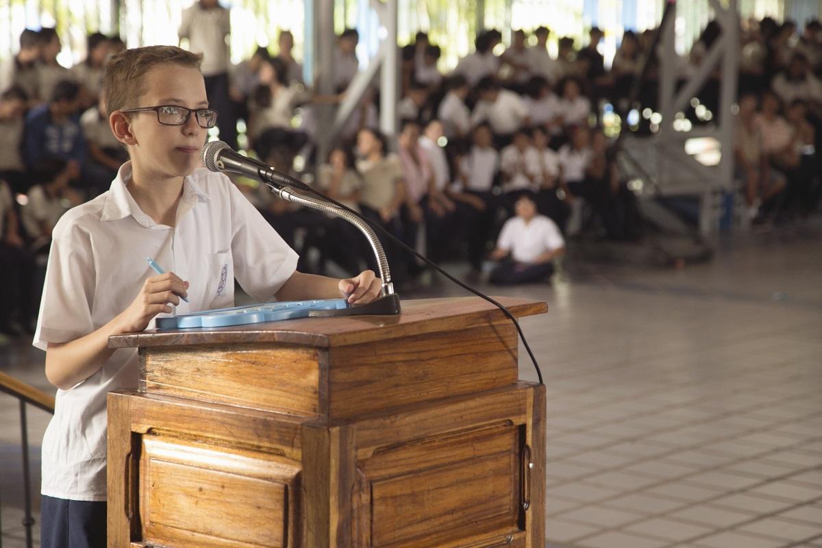 A volunteer teaching in Costa Rica helped her students prepare for their spelling bee